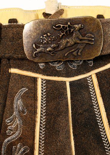 Lederhose, aus Hirschleder, Spieth & Wensky