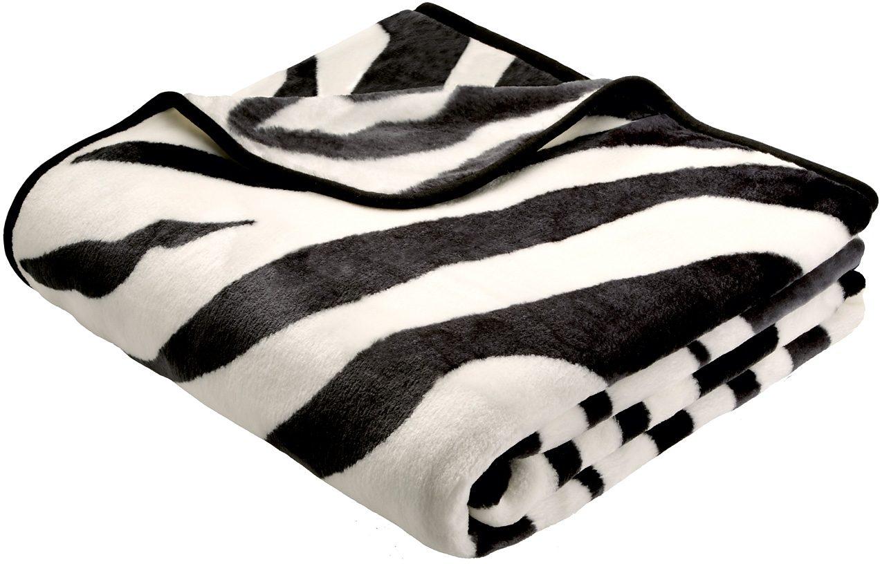 Wohndecke, Biederlack, »Zebra«, Animalprint