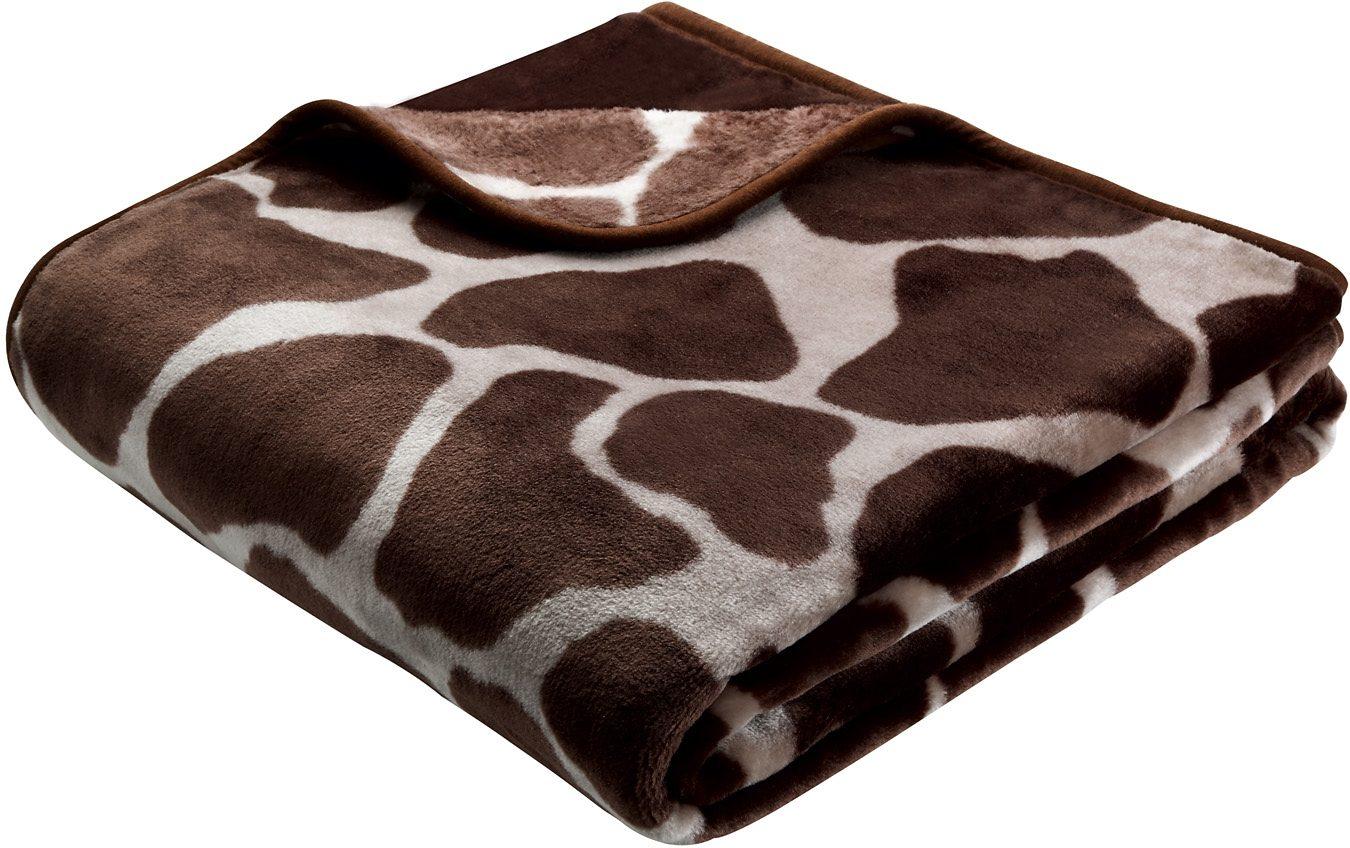 Wohndecke, Biederlack, »Giraffe«, Animalprint