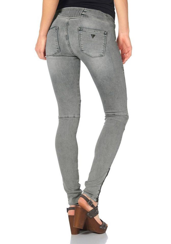 Guess Jeansjeggings »Biker« in blue-stone