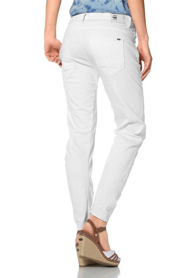 G-Star Boyfriend-Jeans »Arc 3D« in white-denim