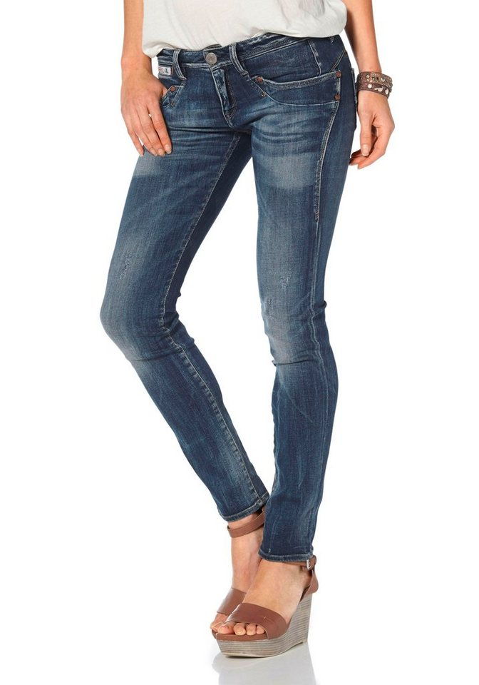 Herrlicher Slim-fit-Jeans »Piper Slim« mit Stretch-Anteil in dark-blue-used