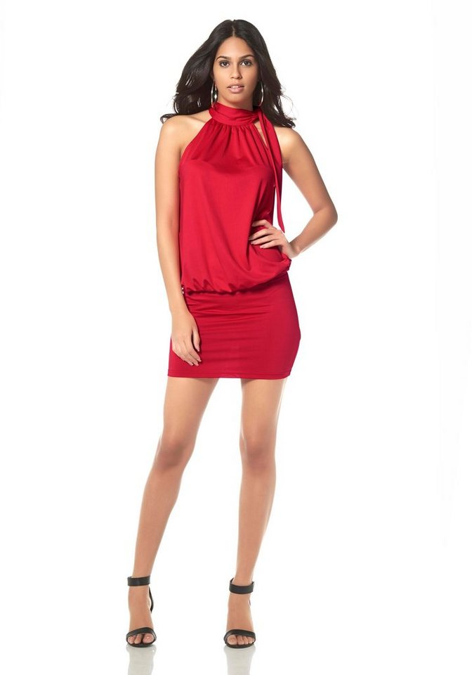 Laura Scott Cocktailkleid Neckholder in rot