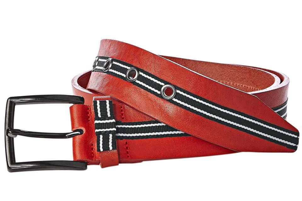 Heine Gürtel mit Kontrastband in rot