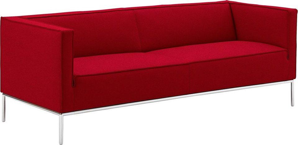 machalke® 3-Sitzer Sofa »greg slim«, mit eleganten Chromfüßen ...