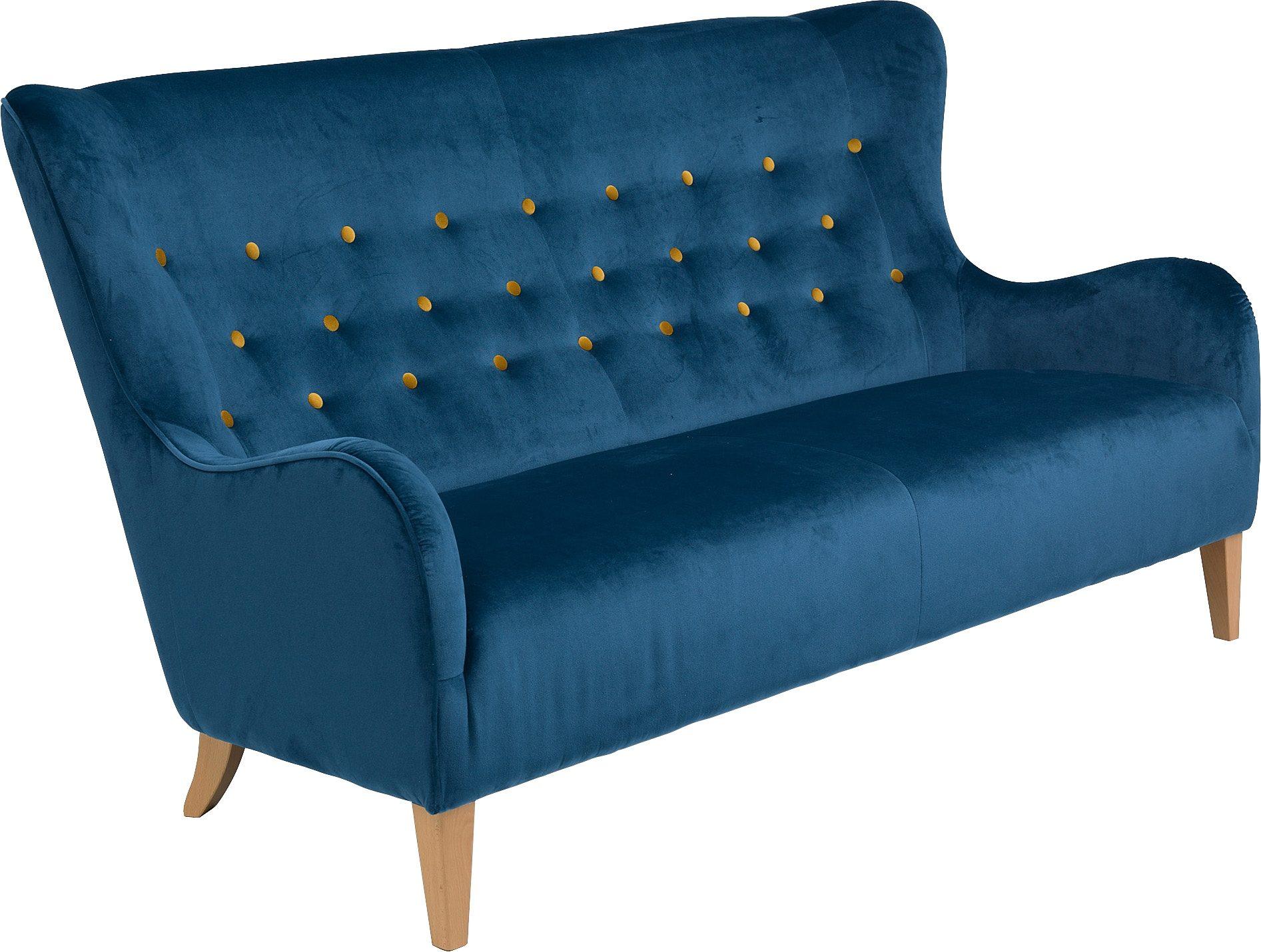 Max Winzer® 2,5-Sitzer Sofa »Melina« im Retrolook, mit farbigen Zierknöpfen, Breite 190 cm
