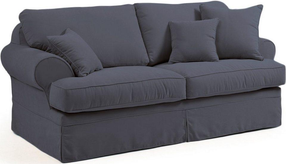 Max Winzer® 2-Sitzer Hussensofa »Helene«, inklusive Zierkissen, Breite 192 cm in anthrazit