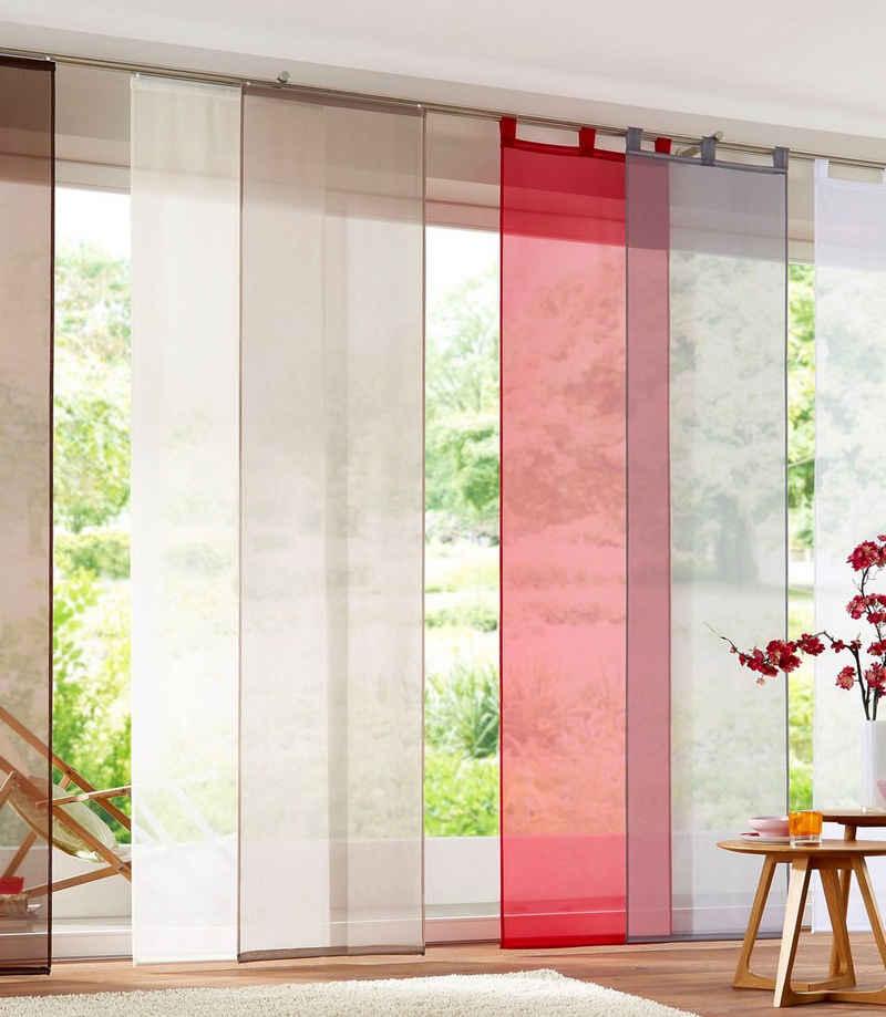 Schiebegardine »Xanten«, my home, Schlaufen (2 Stück), inkl. Beschwerungsstangen, transparent, Breite: 57 cm
