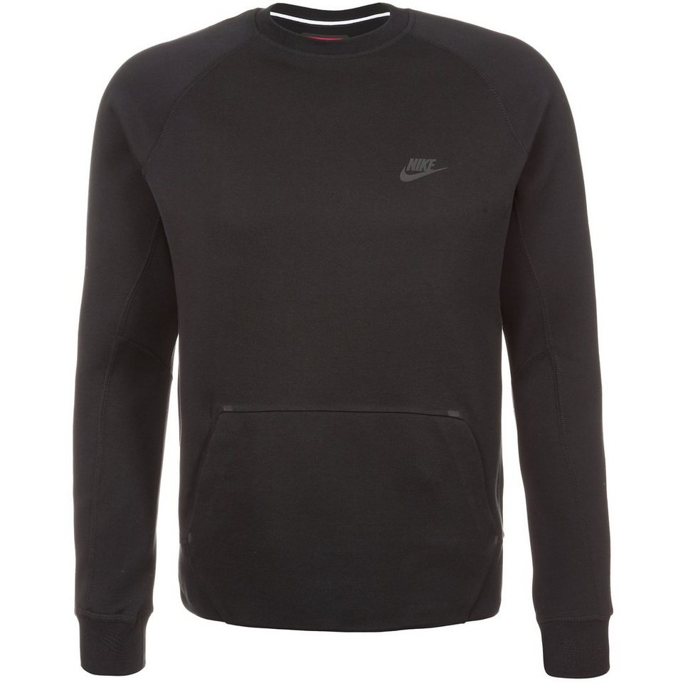 Nike Sportswear Tech Fleece Crew Sweatshirt Herren in schwarz