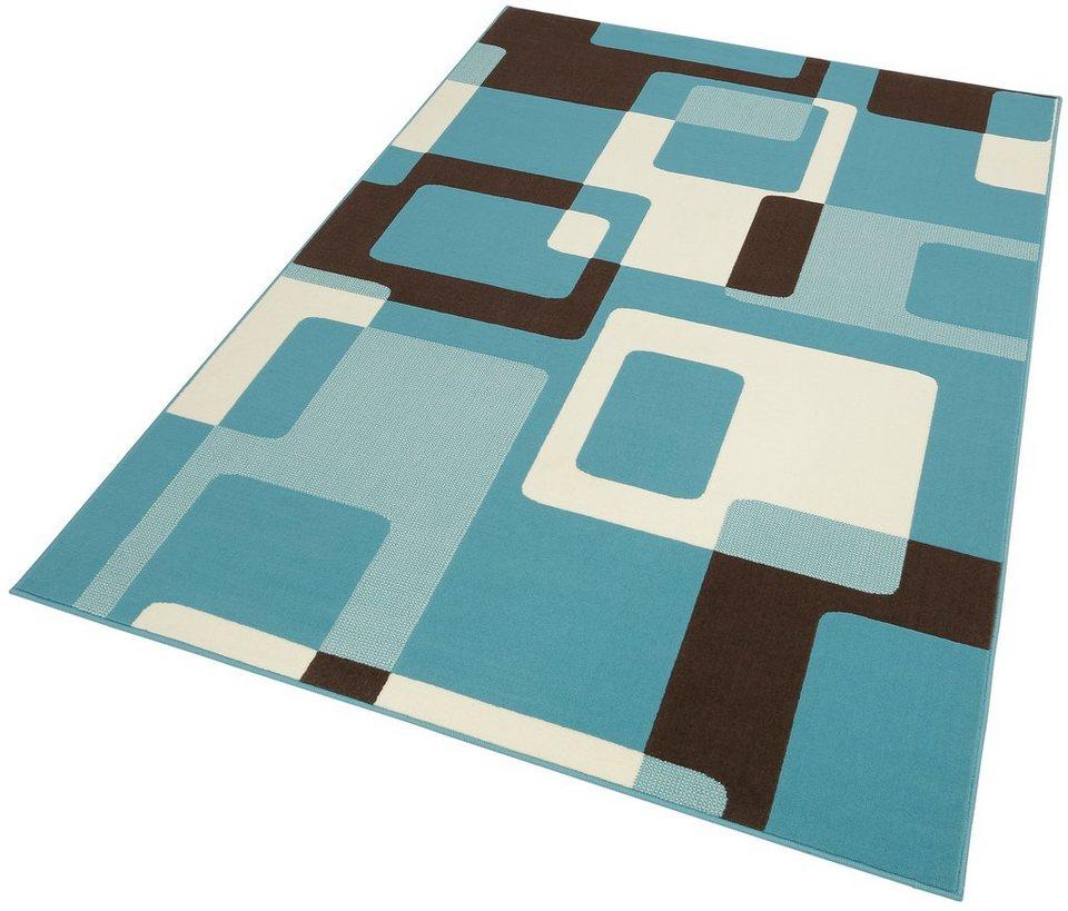 Teppich, Hanse Home, »Tiznit«, Retro Design, abstrakt, gewebt in Blau