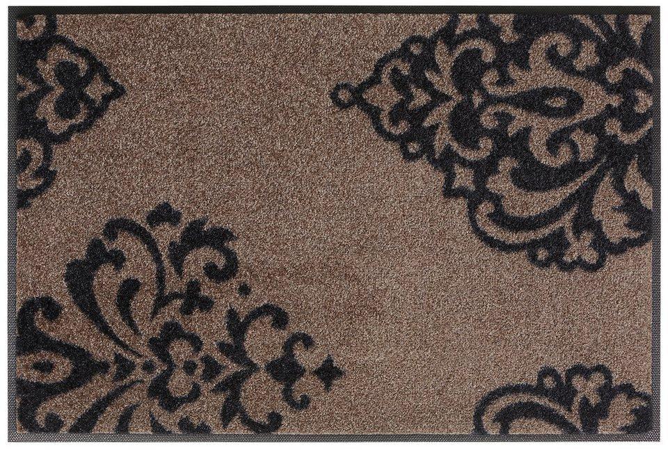 Fußmatte, wash+dry by Kleen-Tex, »Lucia«, rutschhemmend beschichtet in braun