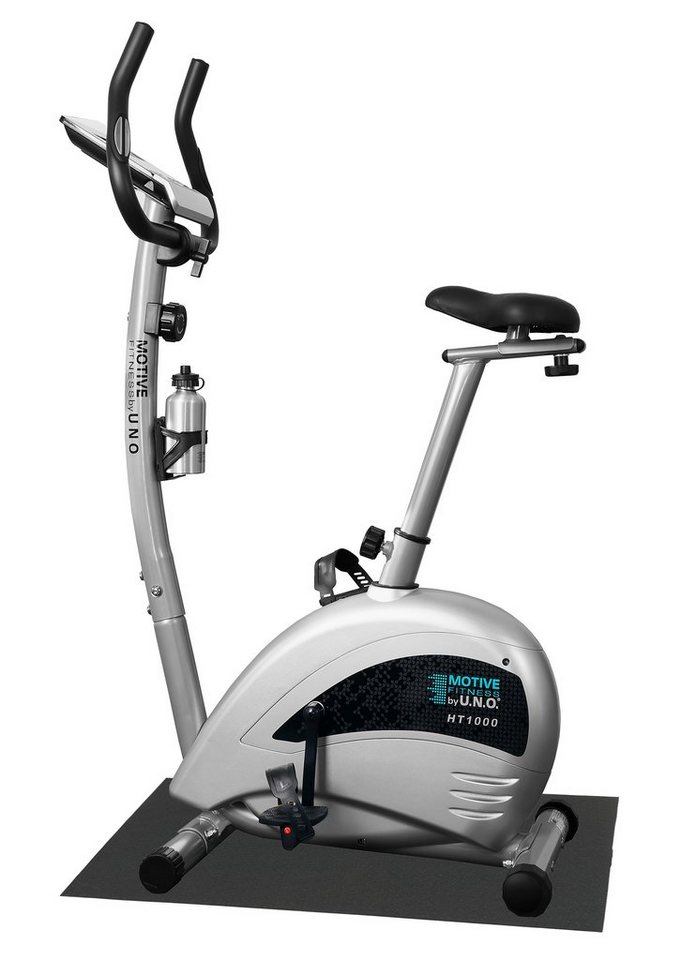 Heimtrainer-Set, inkl. Unterlegmatte, »HT 1000«, MOTIVE by U.N.O. Fitness in silber-grau