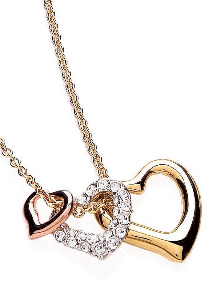 Buckley London Schmuckset: Halskette mit 3 Anhängern »Glitter & Gold Collection« (Set 4tlg.) in goldfarben/silberfarben/roségoldfarben