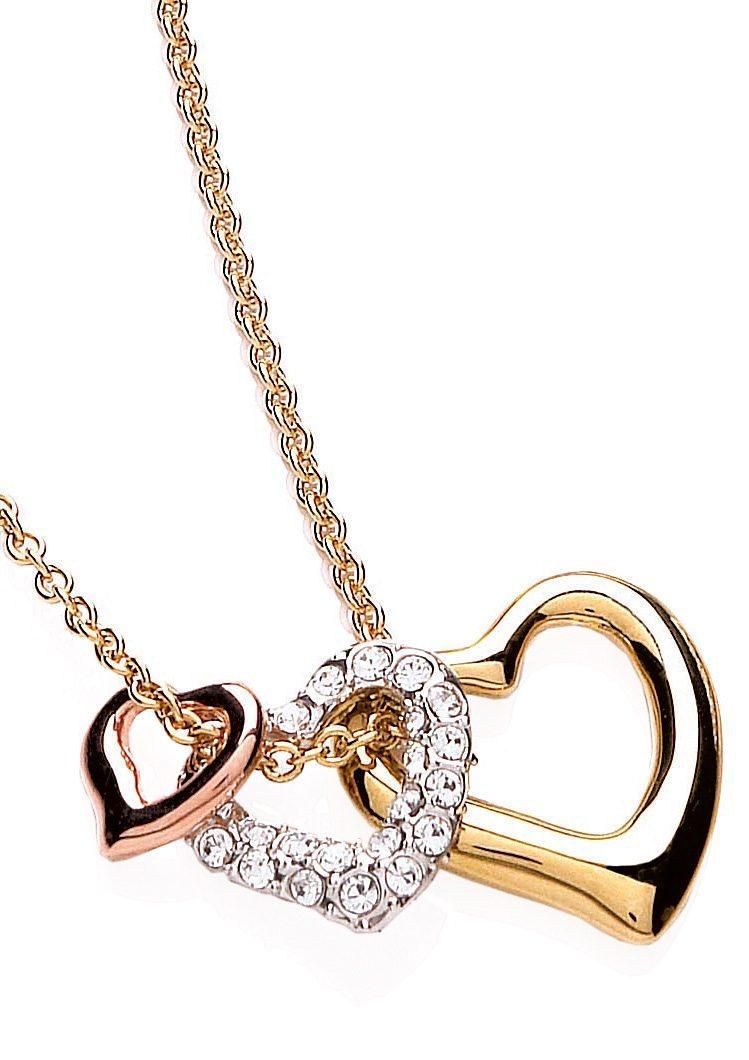 Buckley London Schmuckset: Halskette mit 3 Anhängern »Glitter & Gold Collection« (Set 4tlg.)