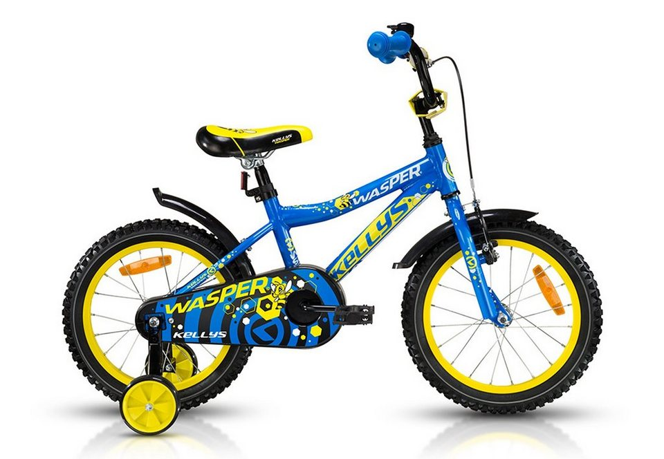 Kinderfahrrad, 16 Zoll, 1 Gang Single Fach, blau, »Wasper«, Kellys in blau