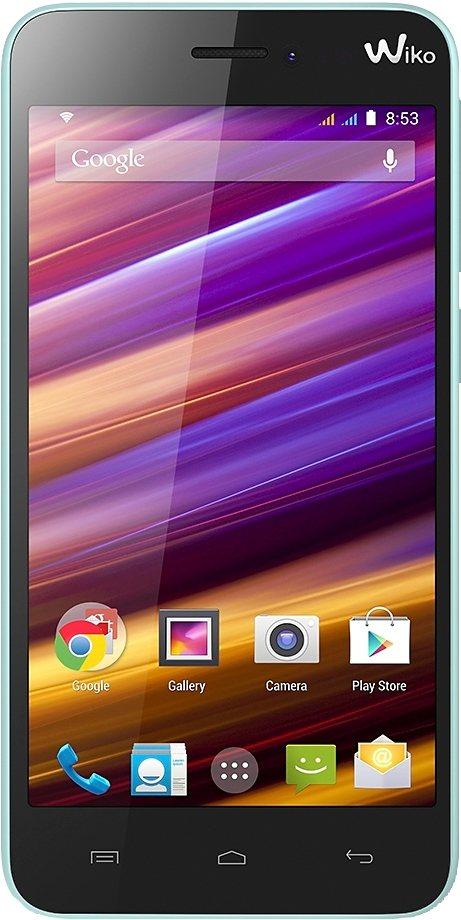 Wiko Jimmy Smartphone, 11,4 cm (4,5 Zoll) Display, Android 4.4, 5,0 Megapixel in blau/orange