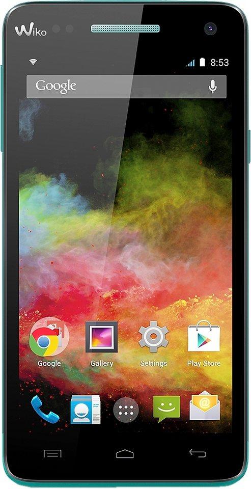 Wiko Rainbow 4G Smartphone, 12,7 cm (5 Zoll) Display, LTE (4G), Android 4.4, 8,0 Megapixel in türkis