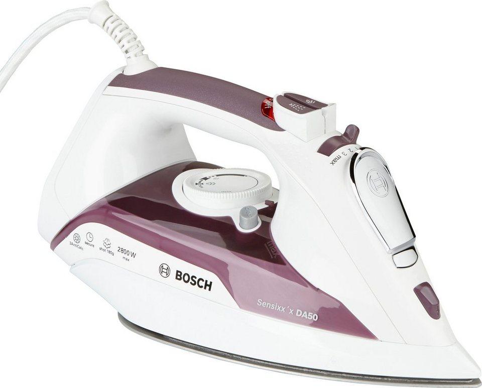Bosch Dampfbügeleisen Sensixx'x DA50 Secure TDA5028110, 2800 Watt, rosa in weiß/Dusty Rose
