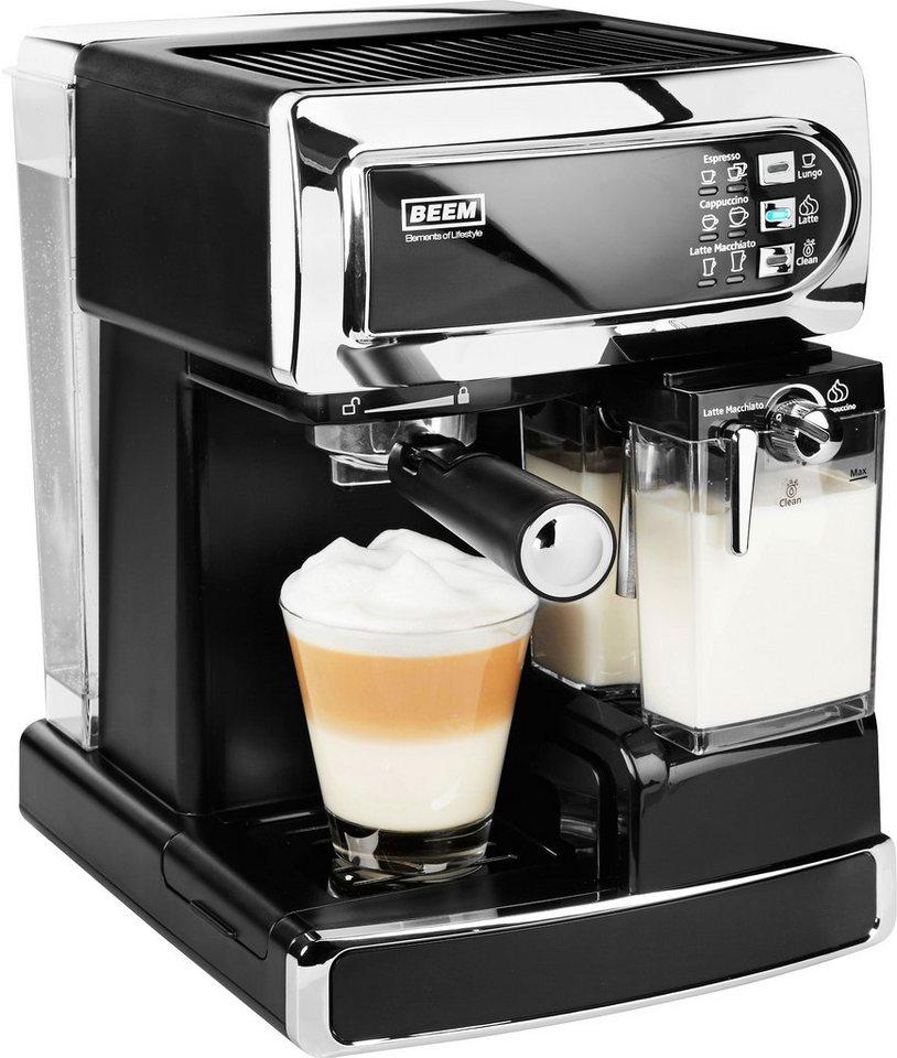 BEEM Siebträger Kaffee- Espressomaschine I-Joy Café & Latte, 15bar, schwarz/chrom in schwarz/chrom