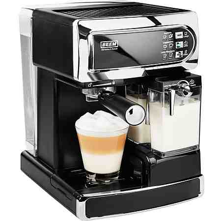 BEEM Siebträger Kaffee- Espressomaschine I-Joy Café & Latte, 15bar, schwarz/chrom