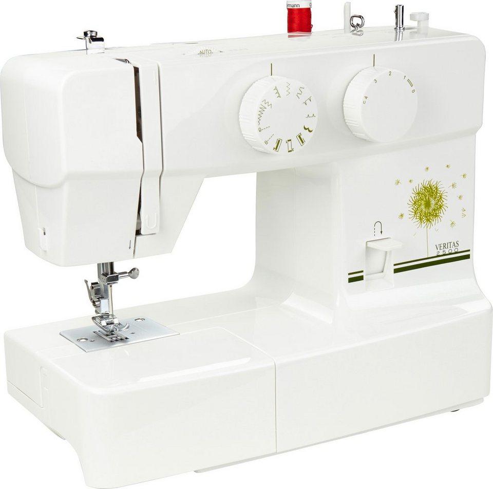 Nähmaschine Veritas 2500, 13 Programme, mit Zubehör in weiß