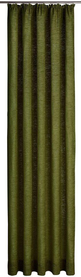 Vorhang, Wirth, »Trondheim 328 g/m²«, mit Kräuselband (1 Stück) in moosgrün