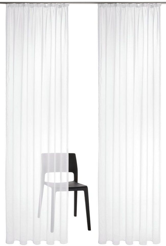Gardine, my home, »Xanten«, mit Kräuselband (2 Stück) in weiß