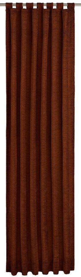 Vorhang, Wirth, »Stavanger 234 g/m²«, mit Schlaufen (1 Stück) in schoko