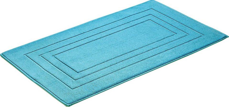 Badematte, Vossen, »Feeling«, 10mm, Baumwolle in turquoise