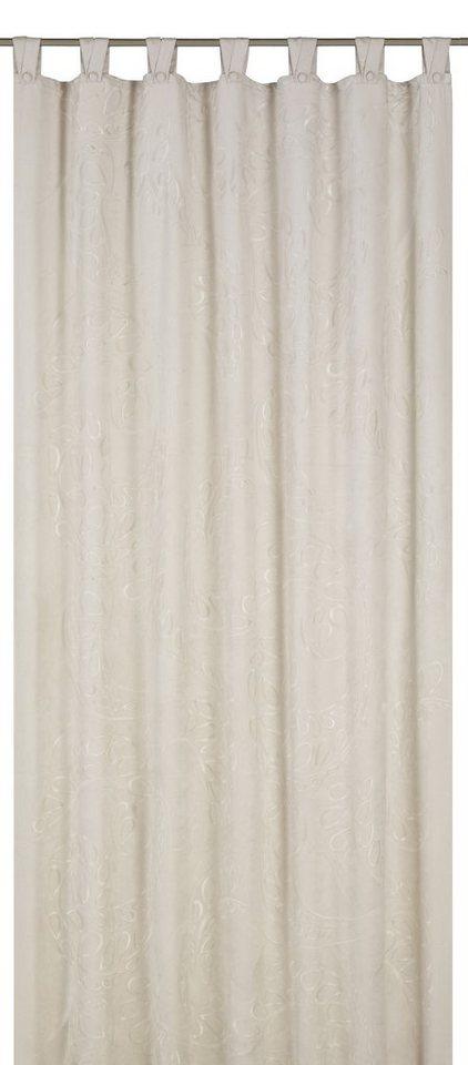 Vorhang, b.b home passion, »Deco Chic«, mit Schlaufen (1 Stück) in beige