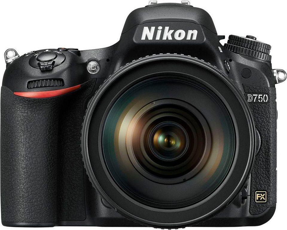 Nikon D750 Spiegelreflex Kamera, Nikkor AF-S 24-120 VR 1:4G ED, 24,3 Megapixel in schwarz