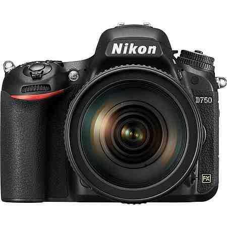 Nikon D750 Spiegelreflex Kamera, Nikkor AF-S 24-120 VR 1:4G ED, 24,3 Megapixel