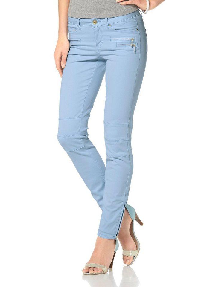 Laura Scott Jeggings mit Ankle Zipper in blau