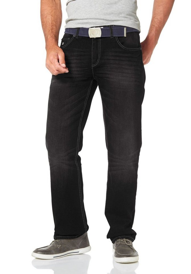 Man's World 5-Pocket-Jeans Stretch in black-used
