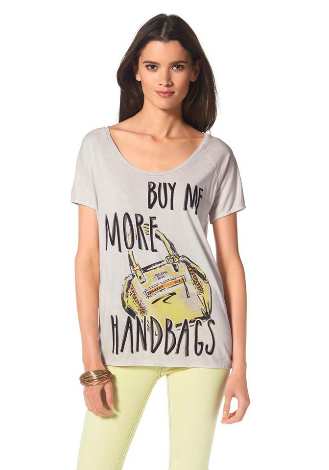 Liebeskind Print-Shirt in hellgrau