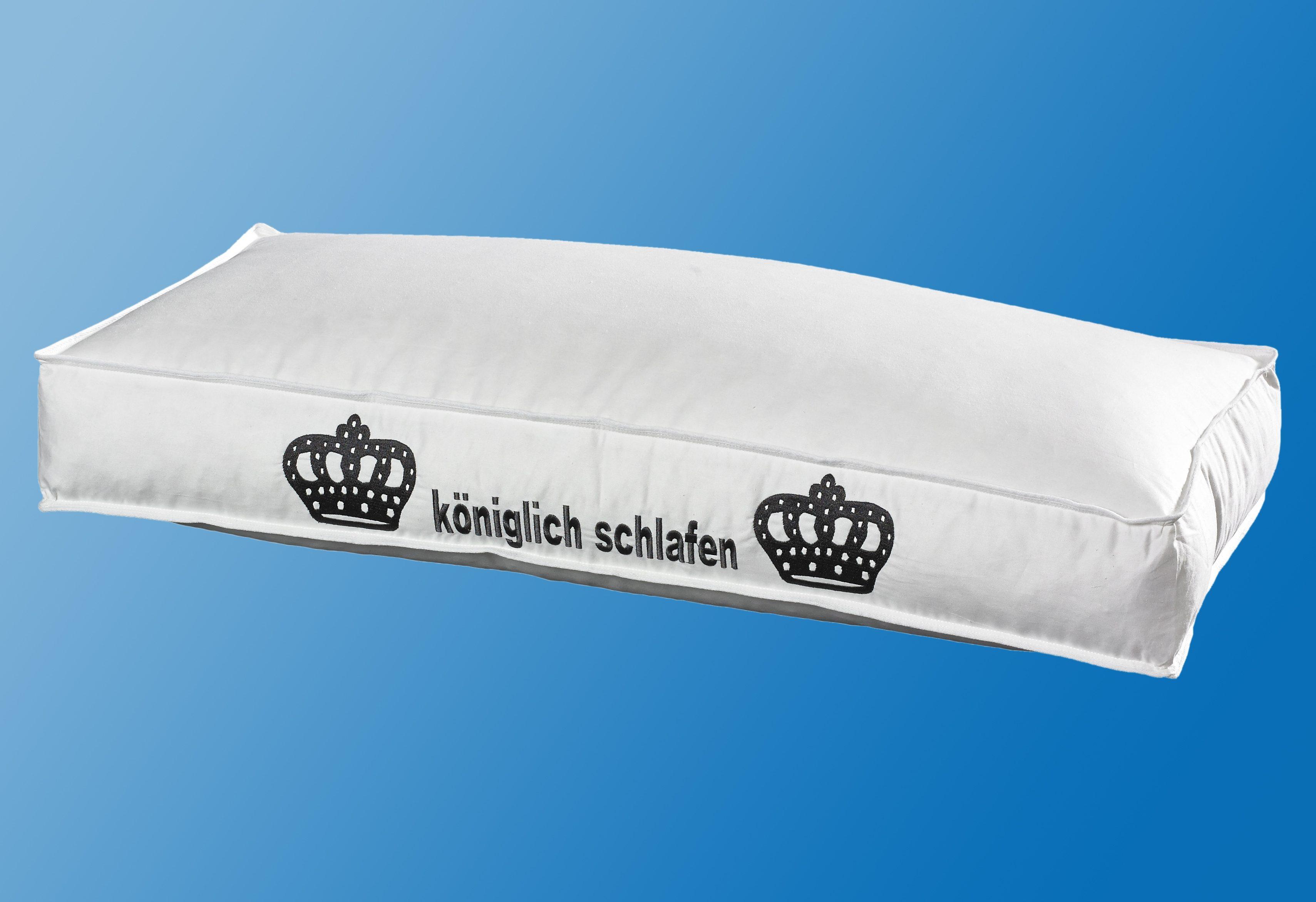 Federkopfkissen, »Noah«, Hanse by RIBECO, Füllung: 85% Federn, 15% Daunen, (1-tlg), 10 cm Außensteg