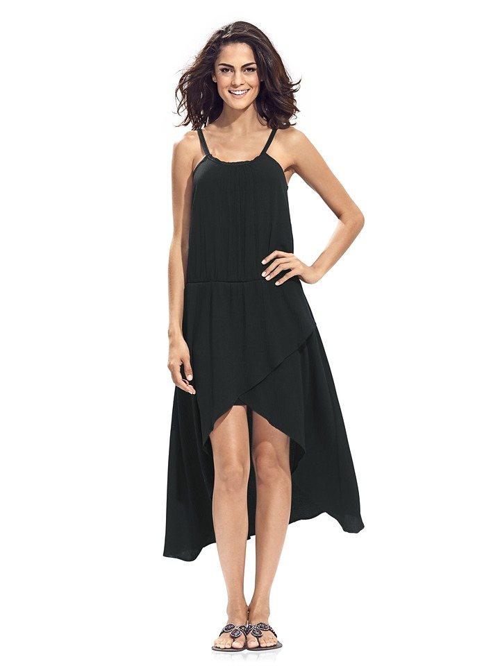 Trägerkleid in schwarz