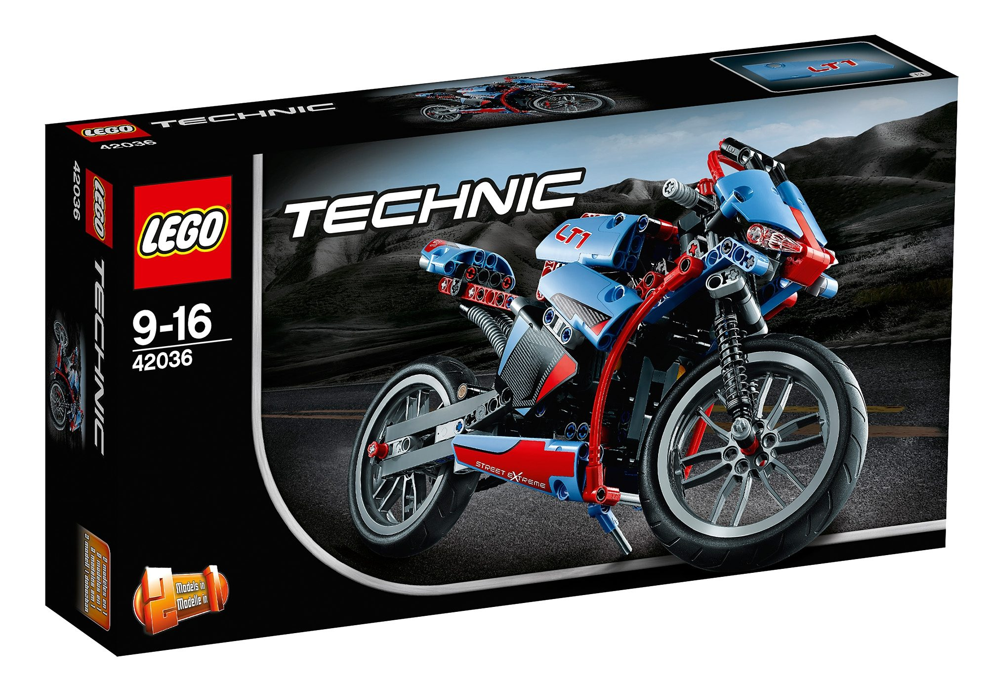 Straßenmotorrad, (42036), »LEGO® Technic«, LEGO®