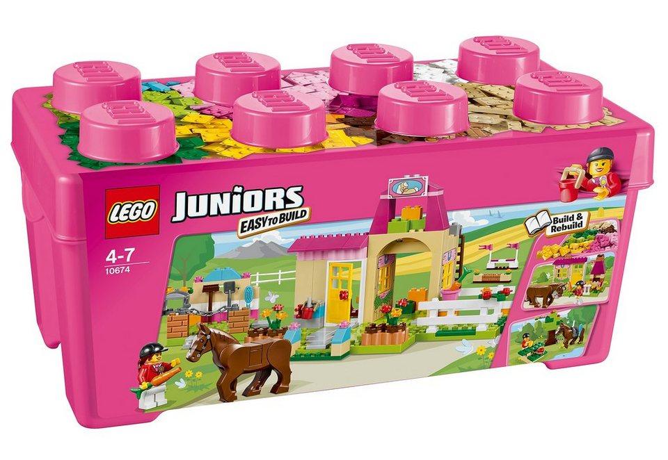 Große Steinebox Mädchen Ponyhof (10674), »LEGO® Juniors«, LEGO®