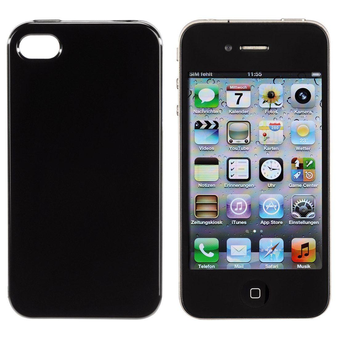 Hama Cover Crystal für Apple iPhone 4/4s, Schwarz