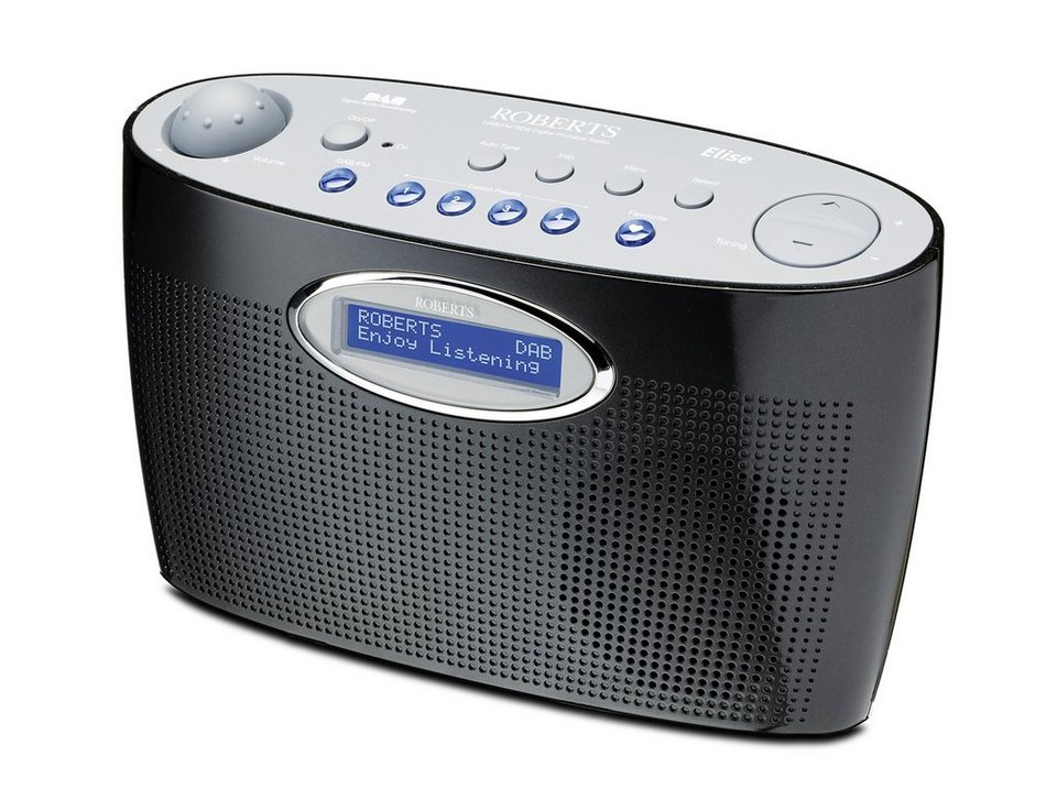 Roberts Radio DAB+ / UKW-Radio »Elise« in schwarz / silber