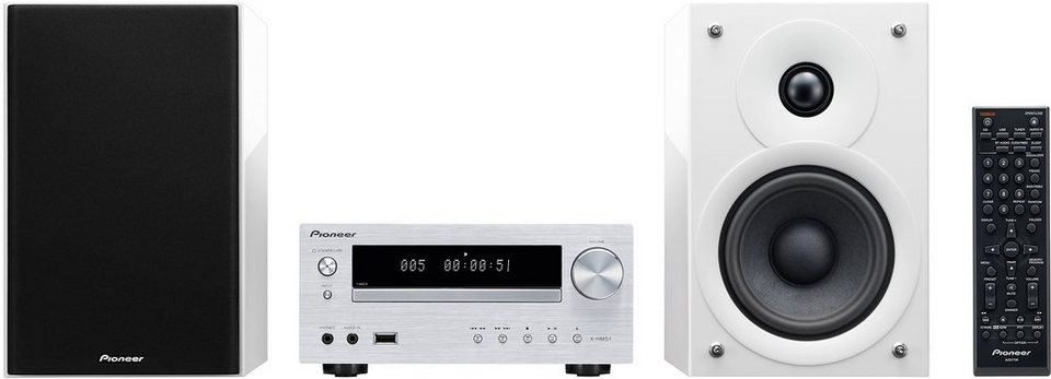 Pioneer X-HM51 Microanlage, Bluetooth, 1x USB in weiß