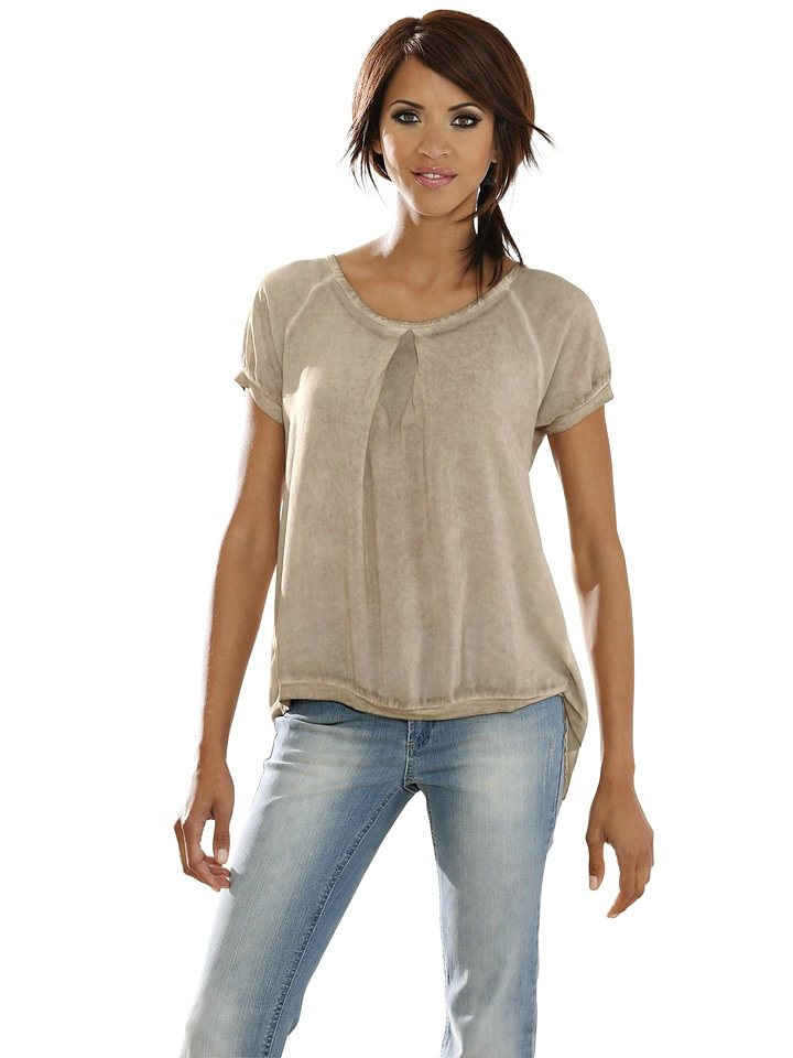 LINEA TESINI by Heine Bluse in sand