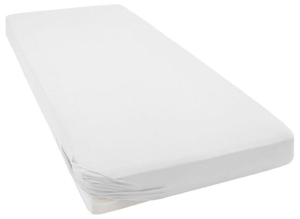 Spannbettlaken, Marc O'Polo Home, »Jersey«, hochwertige Qualität in white