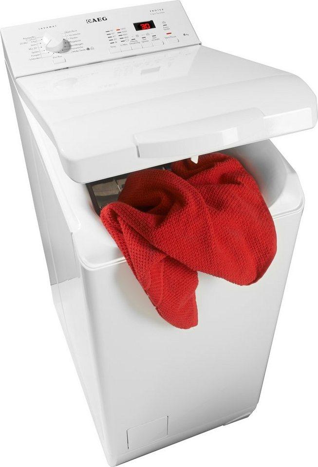 AEG Waschmaschine Toplader Lavamat L62260TL, A+++, 6 kg, 1200 U/Min in weiß