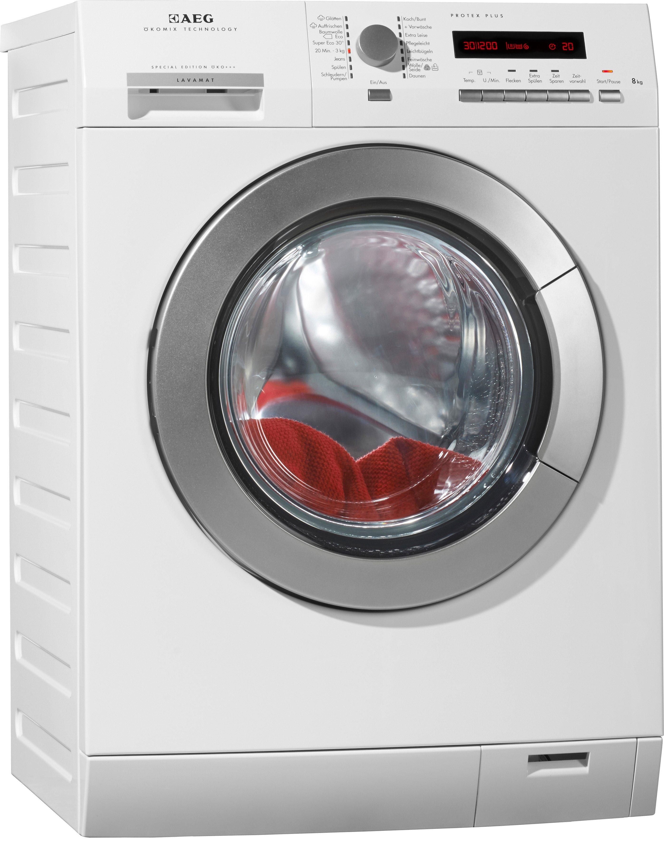 AEG Waschmaschine LAVAMAT LÖKO+++FL, A+++, 8 kg, 1400 U/Min