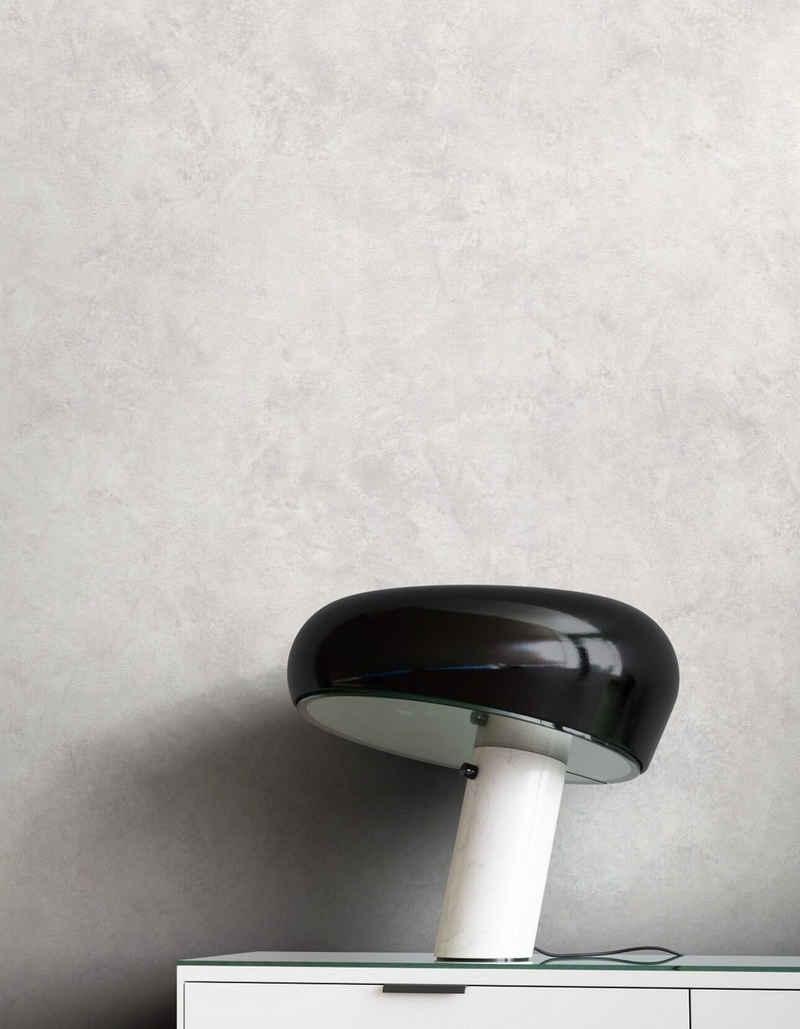 Newroom Vliestapete, Grau Tapete Modern Beton - Putzoptik Hellgrau Betonoptik Uni Einfarbig Industrial Bauhaus für Wohnzimmer Schlafzimmer Küche