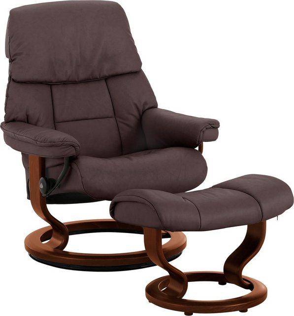 Stressless® Relaxsessel »Ruby« (Set| 2-tlg)| mit Classic Base| Größe M| Gestell Eiche| Wenge| Braun & Schwarz | Wohnzimmer > Sessel > Relaxsessel | Stressless®
