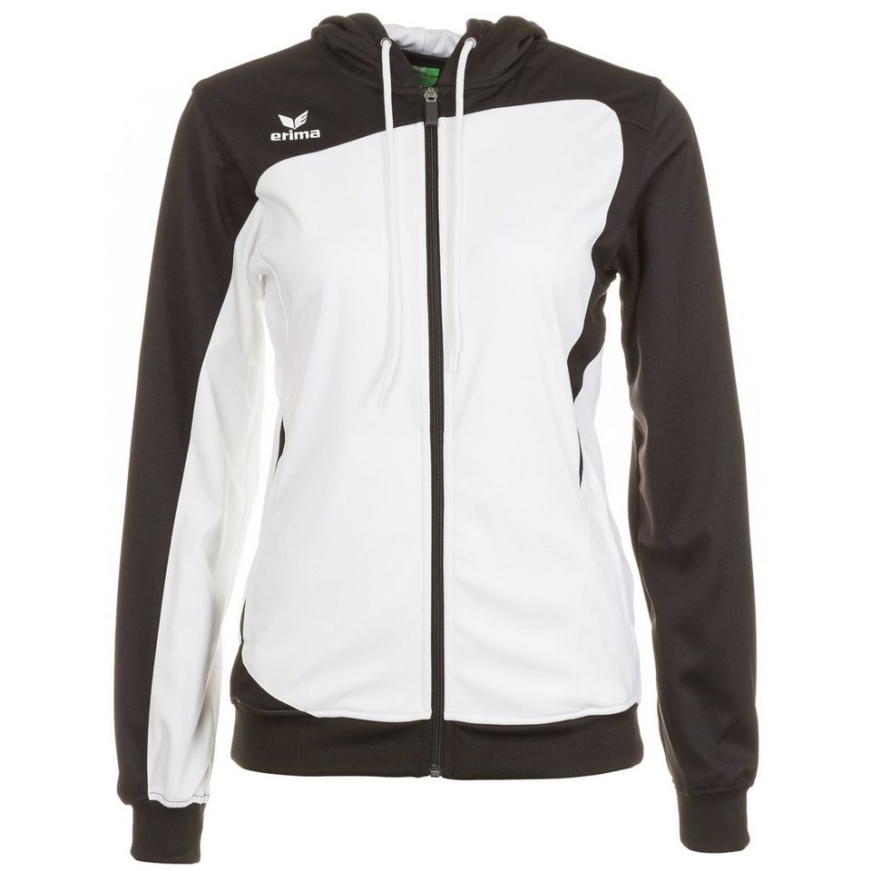 ERIMA Club 1900 Trainingsjacke mit Kapuze Damen in weiß/schwarz
