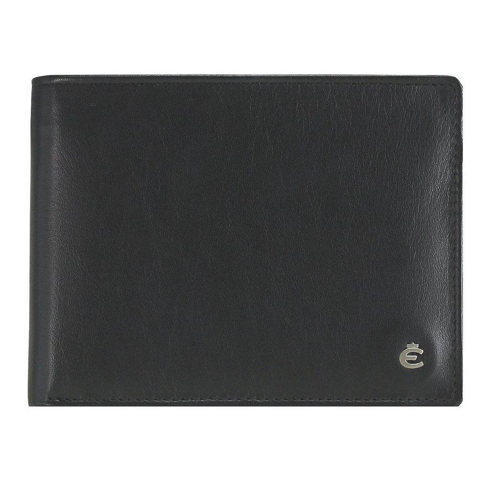 Esquire Harry Geldbörse Leder 12 cm in schwarz